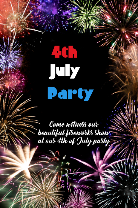 4th july party poster