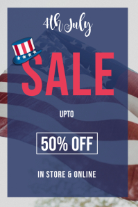 4th july sale BANNER POSTER FOR SALE