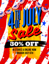 4th July Sale Flyer
