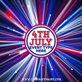 4TH July Video Instagram Template