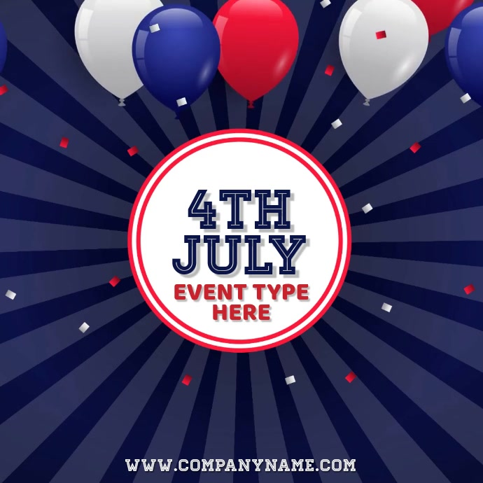 4TH July Video Template Instagram-bericht