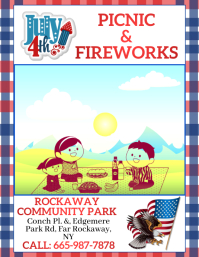 4th of July, 4th of July celebration Volante (Carta US) template
