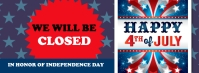 4th of July, 4th of July celebration Facebook 封面图片 template