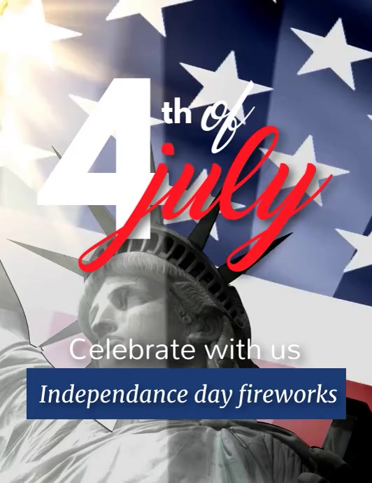 4th of July, Independance day Pamflet (Letter AS) template