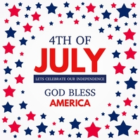 4th of July, Independence Day Flyer Instagram Plasing template