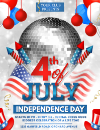 4th of July, Independence Day Flyer template