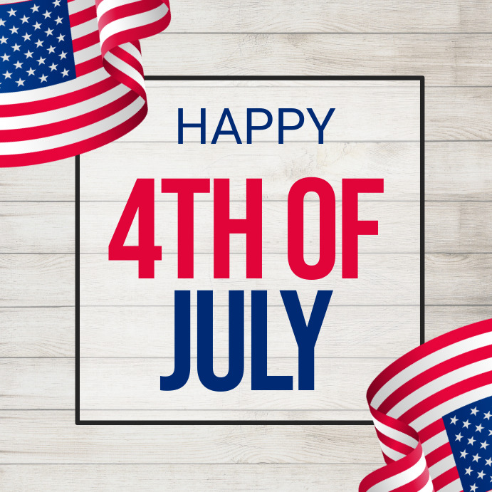 4th of July, Independence Day Flyer Quadrat (1:1) template