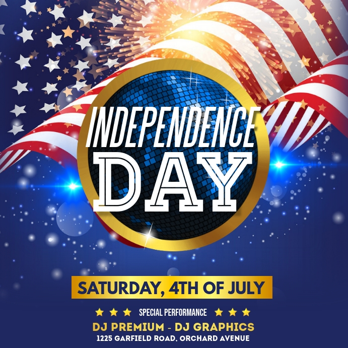 4th of July, Independence Day Flyer