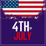 4th of July, memorial day Instagram-Beitrag template