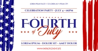4TH OF JULY BANNER Image partagée Facebook template