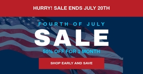 4th of july banner sale
