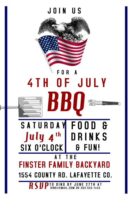 4th of july bbq template