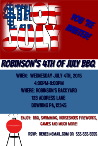 4TH OF JULY Affiche template