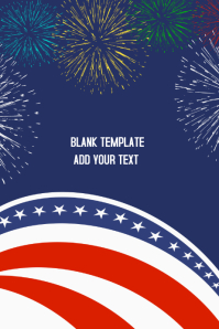 4th of July BLANK Poster Flyer template
