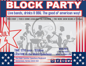 29 270 customizable design templates for block party event
