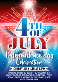 4th of july celebration A4 template