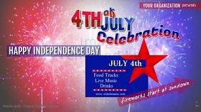 4th of July Celebration Digital Display