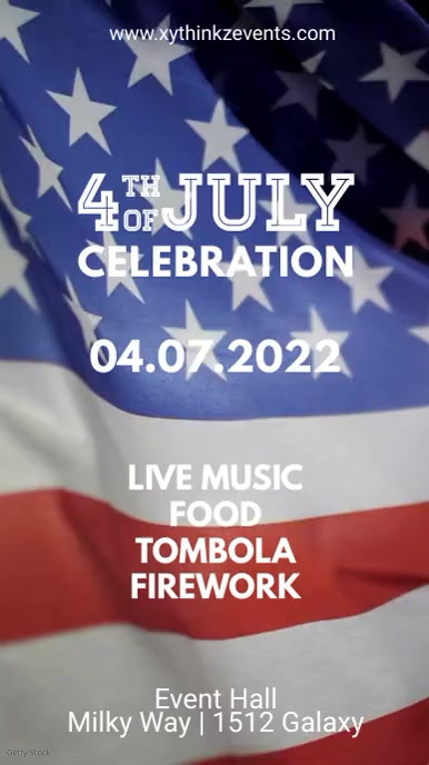 4th of July celebration party Poster Flyer ad Instagram Story template