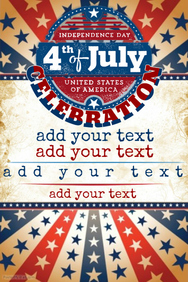 Vintage 4th of July Celebration Event Flyer Poster