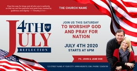 4th of july church prayer service Facebook Shared Image template