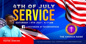 4th of july church service Facebook Shared Image template