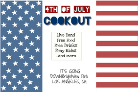 4TH OF JULY COOKOUT FLYER - PARTY