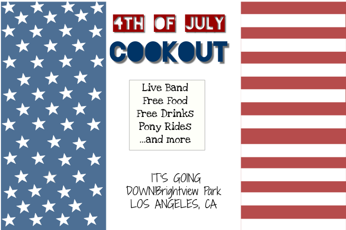 4th of july cookout flyer party template postermywall