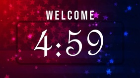 4th of july countdown Digital Display (16:9) template