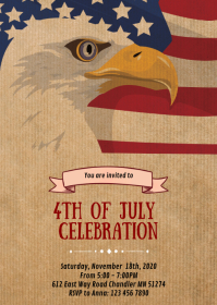4th of July day party invitation