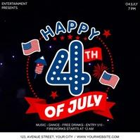 4th Of July Publicación de Instagram template