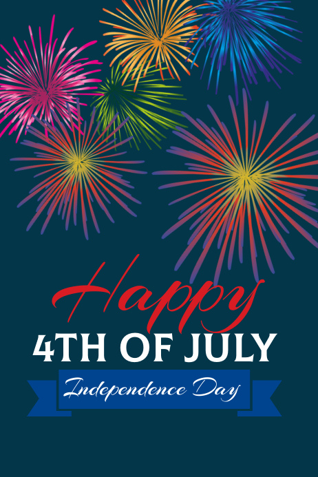 4th of July Poster template