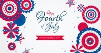 4th of July auf Facebook geteiltes Bild template