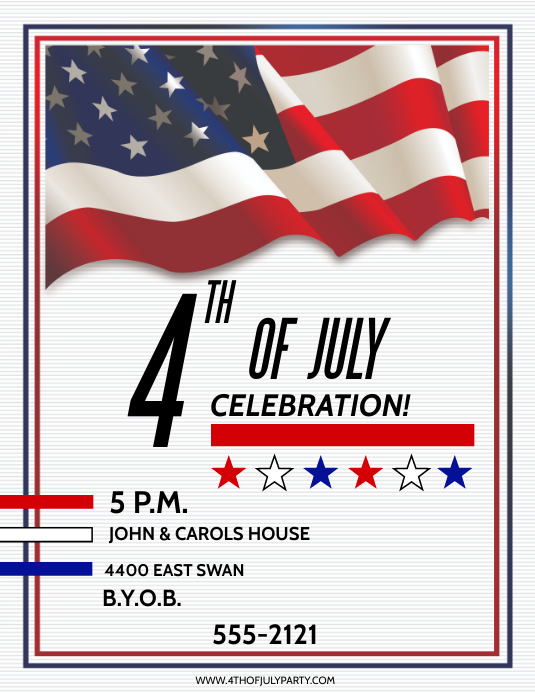 4TH OF JULY Pamflet (Letter AS) template