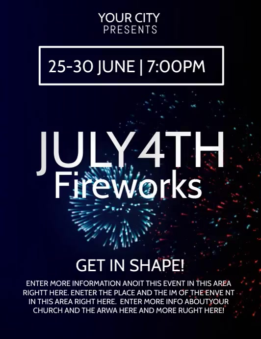 4TH OF JULY Flyer (Letter pang-US) template
