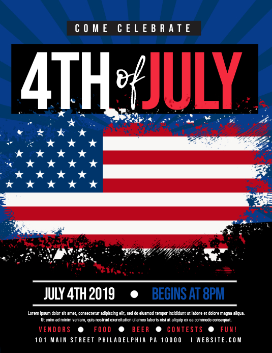 4th of July Flyer (US Letter) template