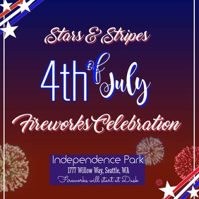 4th of July Digital Fireworks Ad