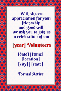 4th of July dinner formal event volunteers invitation flyer