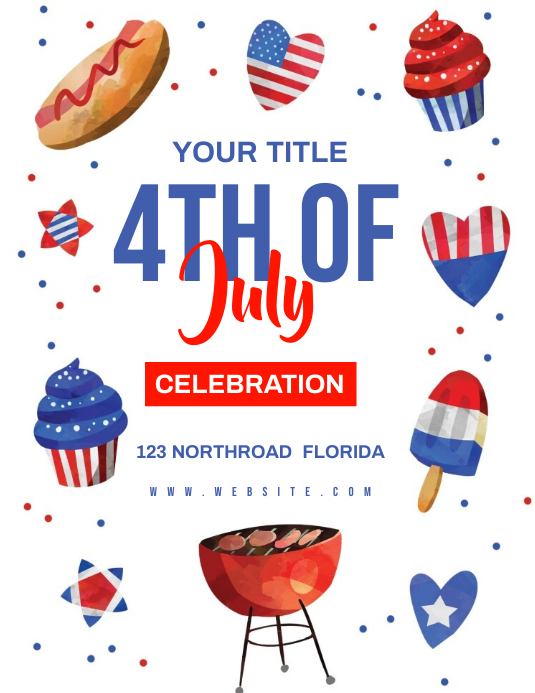 4TH OF JULY EVENT AD FLYER TEMPLATE Pamflet (Letter AS)