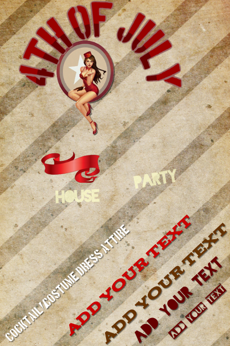 Fourth of July Event Pin Up Flyer Ad Poster