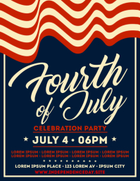 4TH OF JULY EVENT FLYER Volante (Carta US) template