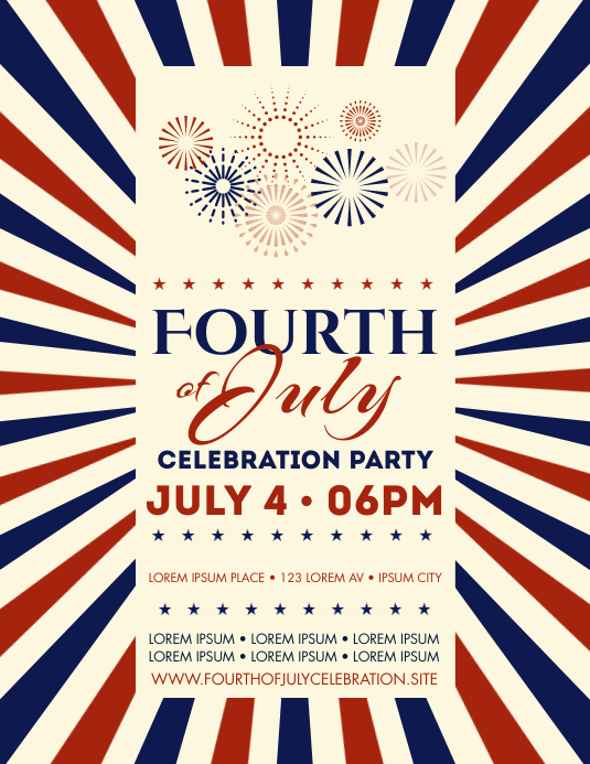 4TH OF JULY EVENT FLYER Рекламная листовка (US Letter) template