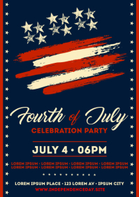 4TH OF JULY EVENT POSTER A4 template