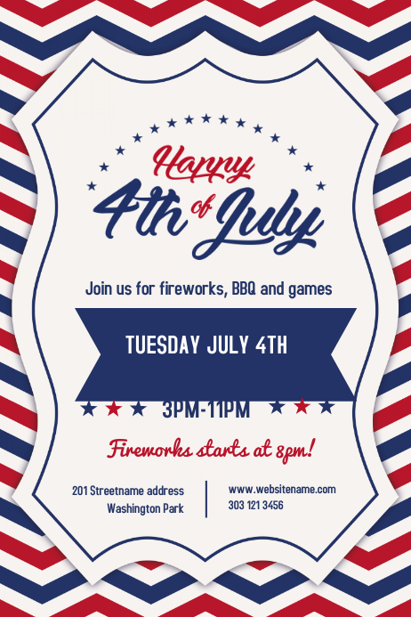 4th of July Event poster