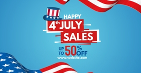 4th of july facebook advertisement design tem