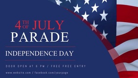 4th of july Facebook Cover Video Template