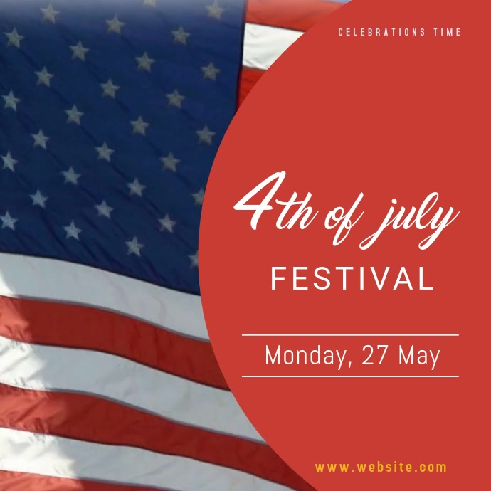 4th of July Festival Instagram Video Templat