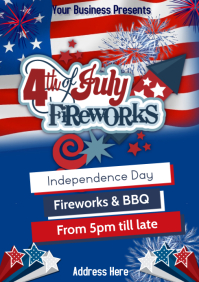 4th of July Fireworks BBQ A1 template