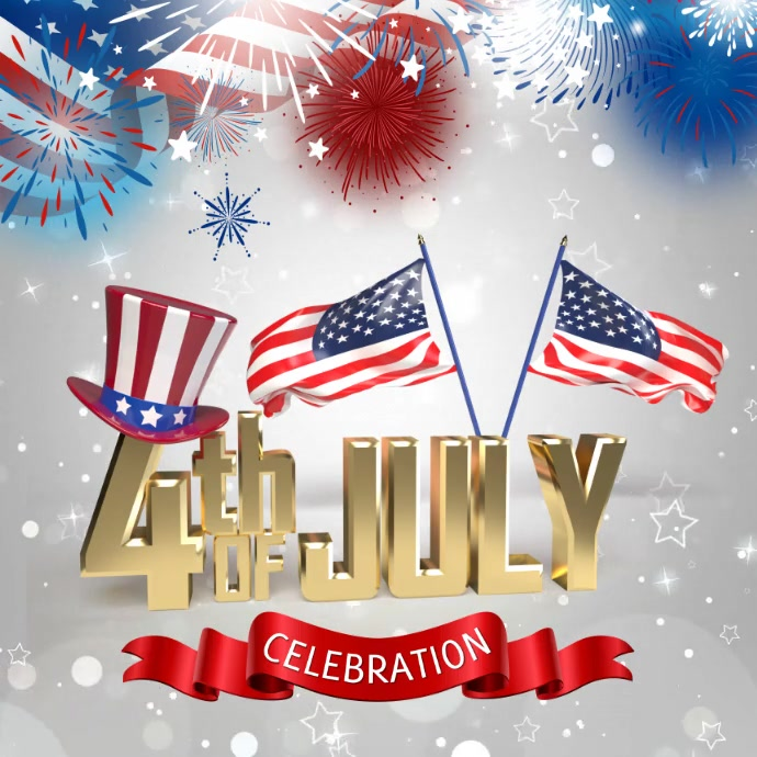 4th of July flyer, Independence day flyer Instagram-bericht template