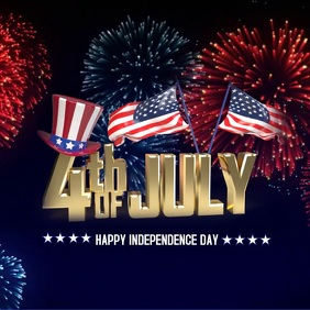 4th of July flyer, Independence day flyer Instagram Post template
