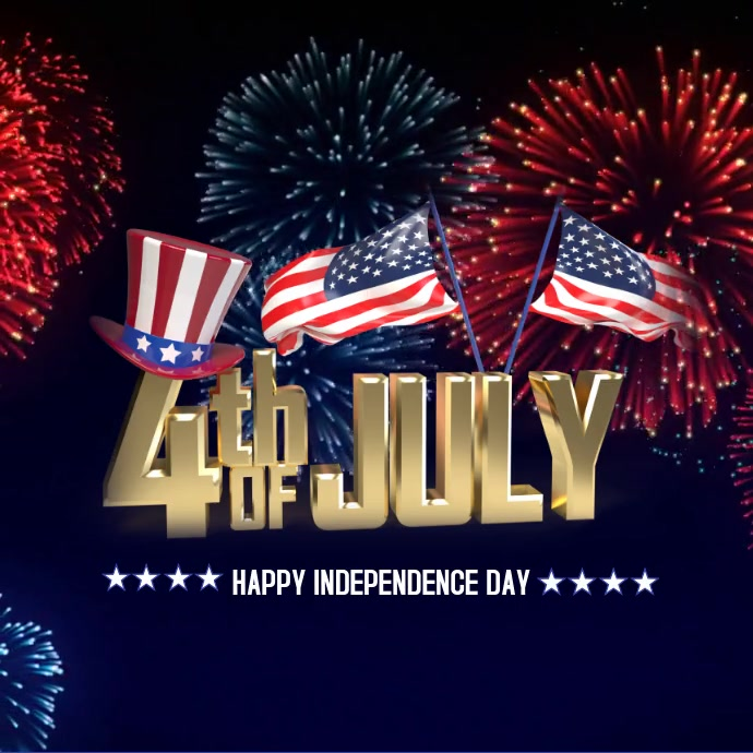 4th of July flyer, Independence day flyer template